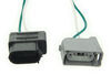 T-One Vehicle Wiring Harness with 4-Pole Flat Trailer Connector Powered Converter 118536
