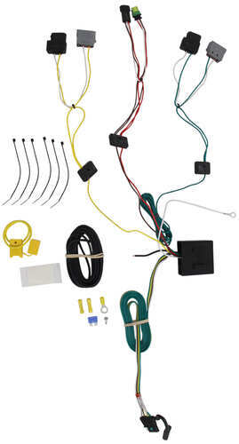 t one vehicle wiring harness with 4 pole flat trailer connector rh etrailer com