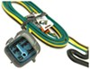 T-One Vehicle Wiring Harness for Factory Tow Package - 4-Pole Flat Trailer Connector Powered Converter 118558