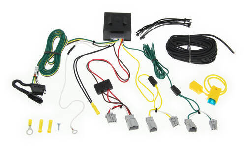 118563_500 t one vehicle wiring harness with 4 pole flat trailer connector Turn Signal Switch Wiring at bakdesigns.co