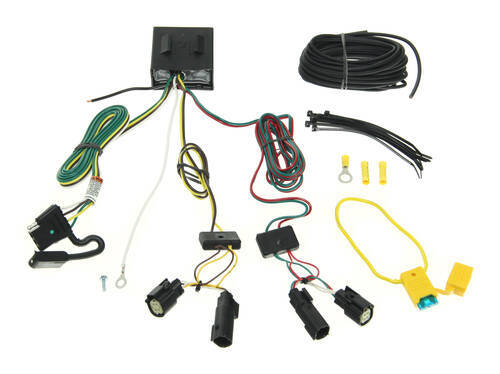 118566_500 t one vehicle wiring harness with 4 pole flat trailer connector 2014 ford escape trailer hitch wiring harness at bakdesigns.co