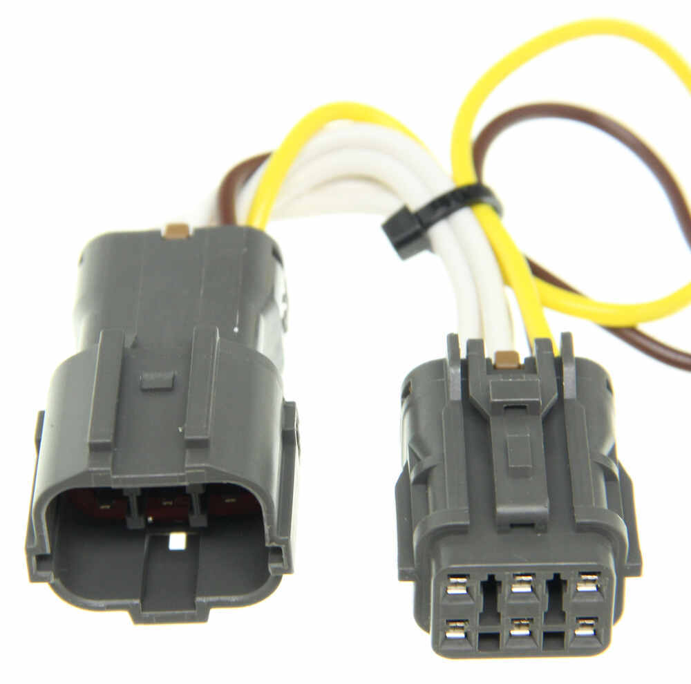 T One Vehicle Wiring Harness With 4 Pole Flat Trailer Connector To 7 End Tow Ready 30717 Tekonsha Custom Fit 118571