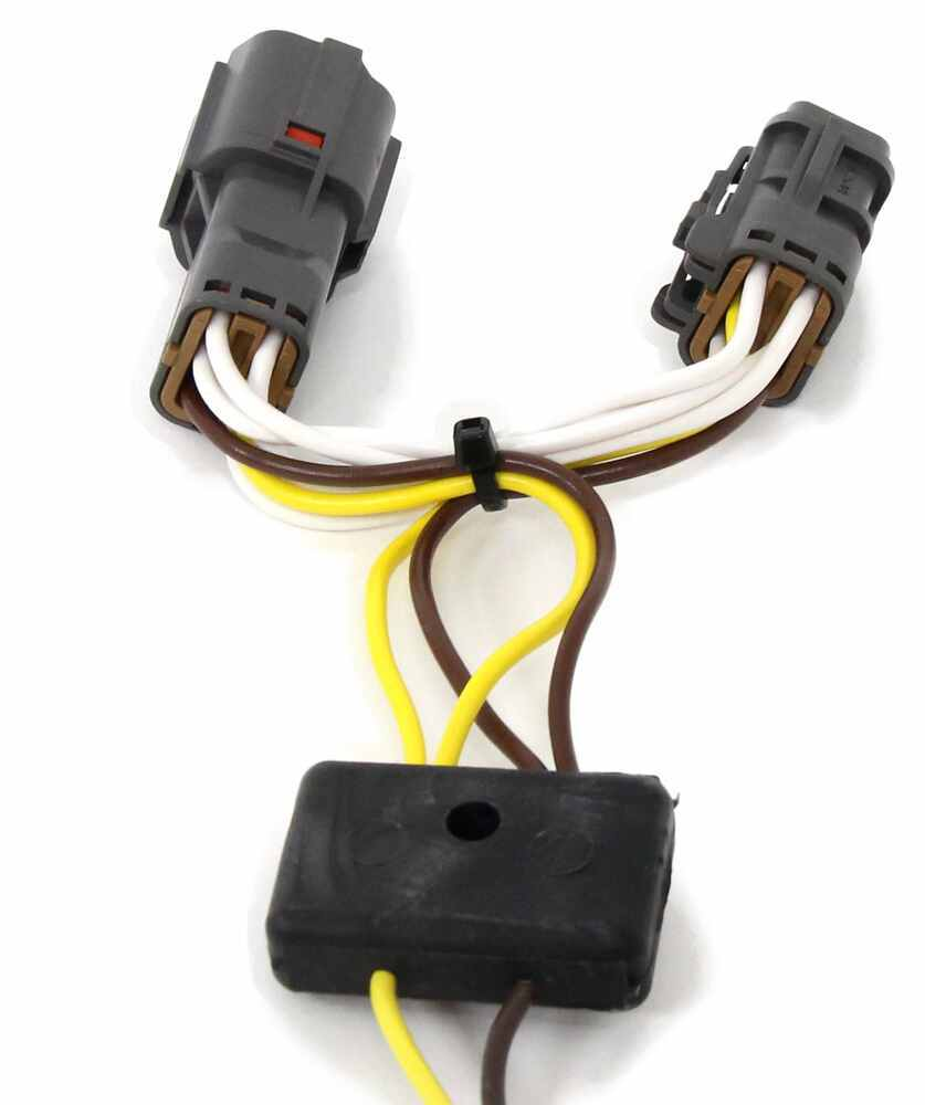 T One Vehicle Wiring Harness With 4 Pole Flat Trailer Connector To 7 End Tow Ready 30717 Tekonsha Custom Fit 118637