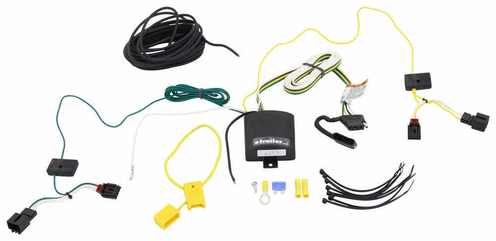 T-One Vehicle Wiring Harness with 4-Pole Flat Trailer Connector Custom Fit 118646