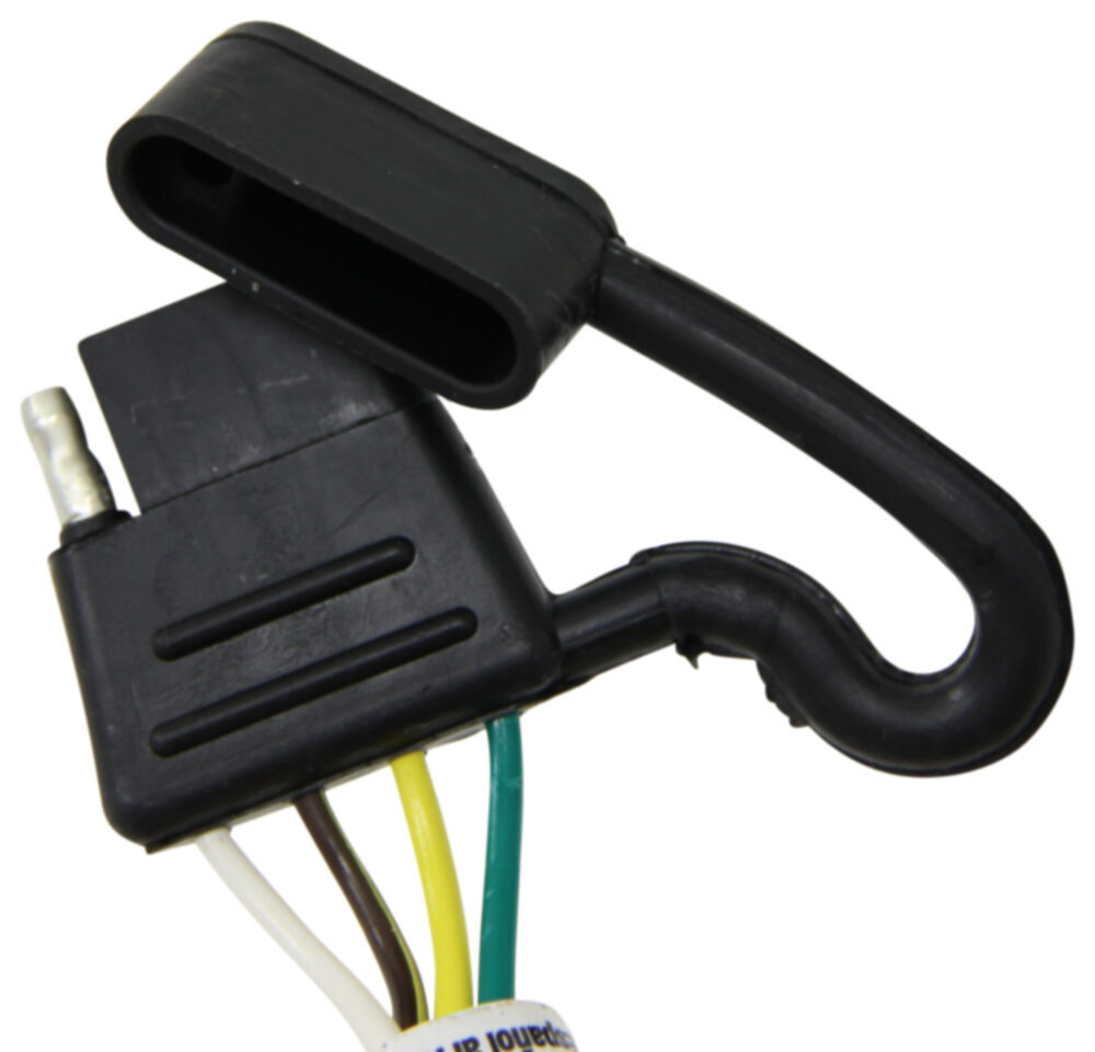 T One Vehicle Wiring Harness With 4 Pole Flat Trailer Connector Pollak 5pole Round Pin Chrome Tekonsha Custom Fit 118668