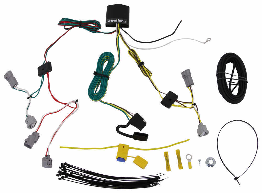 T-One Vehicle Wiring Harness with 4-Pole Flat Trailer Connector 4 Flat 118685