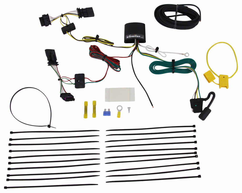 2016 BMW X1 T One Vehicle Wiring Harness with 4 Pole Flat