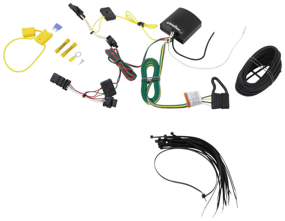 t one vehicle wiring harness with 4 pole flat trailer connector tekonsha custom fit vehicle