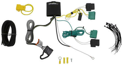compare curt trailer hitch vs t one vehicle wiring etrailer com oxygen sensor extension harness t one vehicle wiring harness with 4 pole flat trailer connector