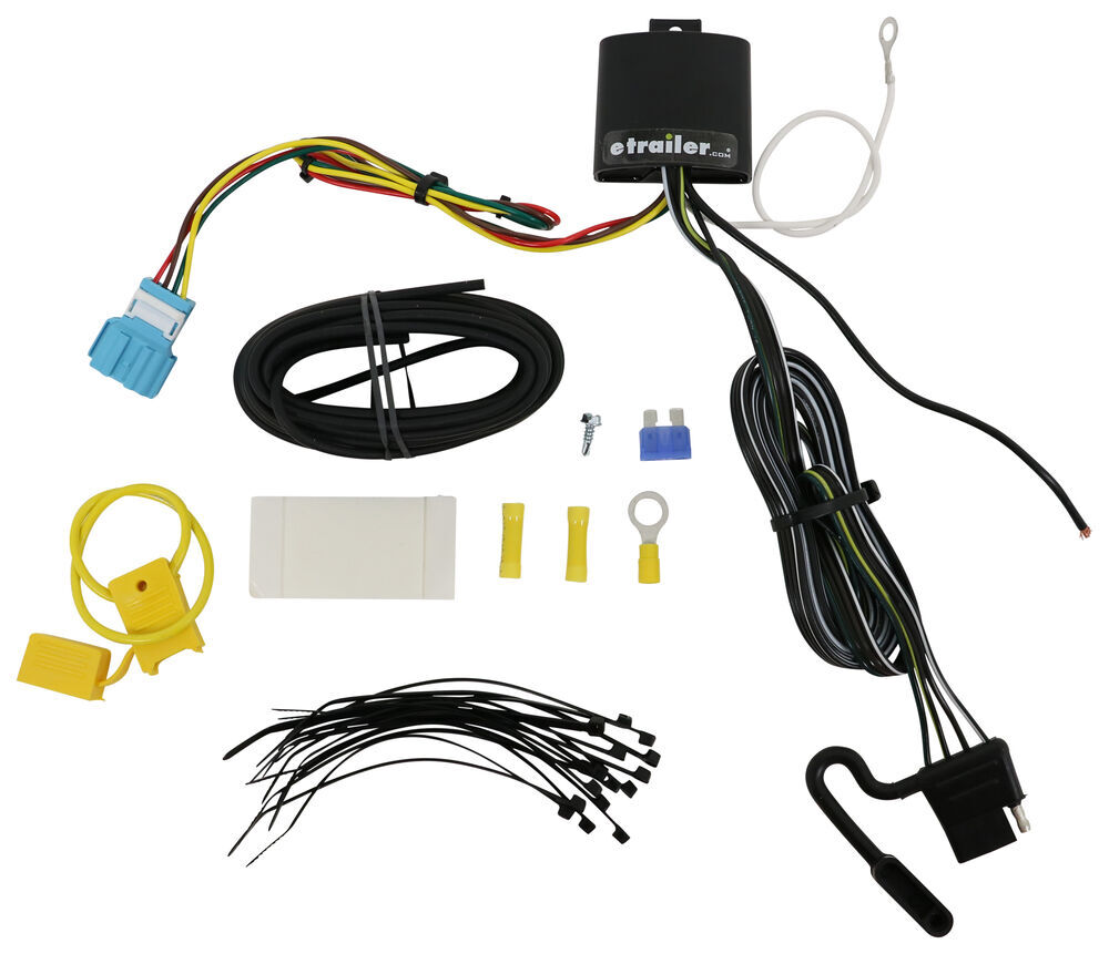 2018 Honda Odyssey T-One Vehicle Wiring Harness with 4-Pole Flat Trailer  Connector