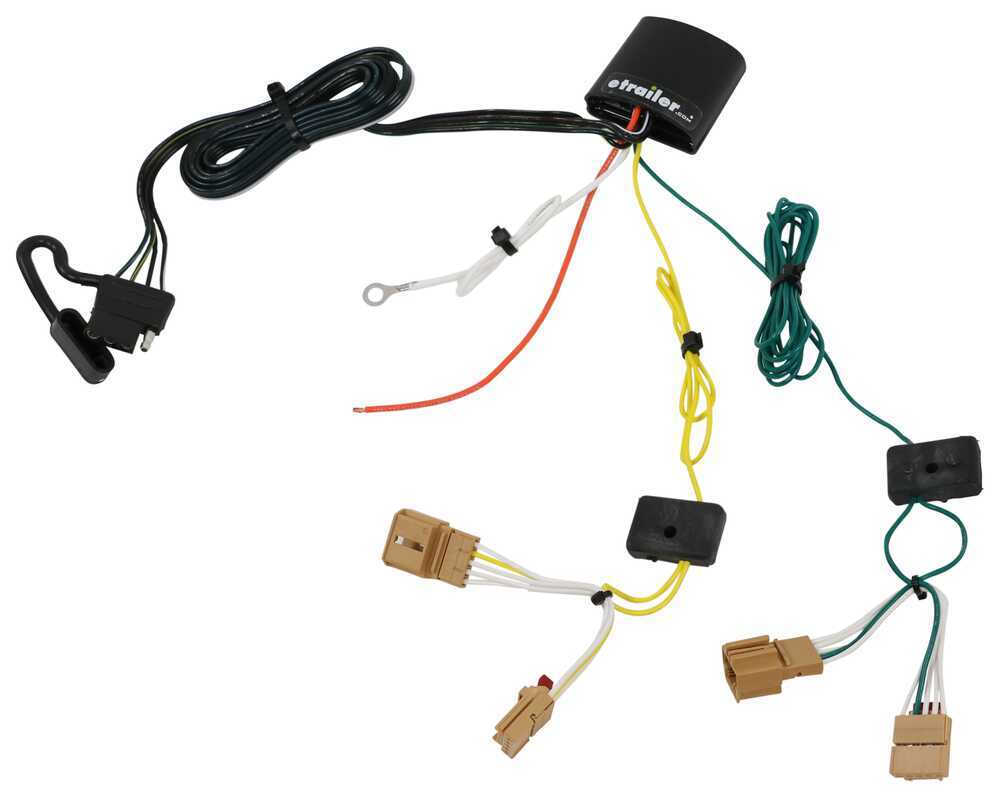 T One Vehicle Wiring Harness With 4 Pole Flat Trailer Connector Custom Fit Hitch Powered Converter 7 Tekonsha 118765