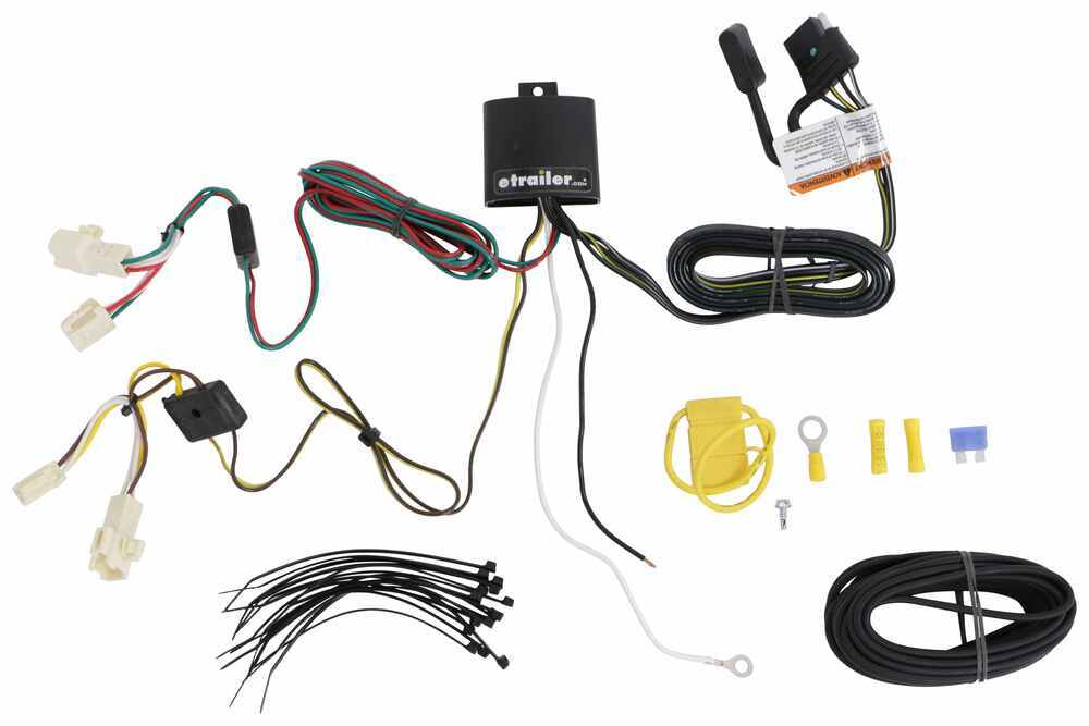 T-One Vehicle Wiring Harness with 4-Pole Flat Trailer Connector Custom Fit 118801
