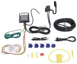 upgraded modulite vehicle wiring harness kit w/ 4-pole trailer connector  and installation kit