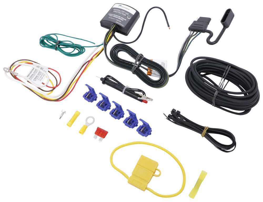 Upgraded Modulite Vehicle Wiring Harness Kit w/ 4-Pole ... on 2001 jetta dome light harness, goldfish harness, dual car stereo wire harness, vw ignition wiring, vw wiring kit, 68 vw wire harness, vw bus regulator wiring, vw wiring diagrams, vw beetle carburetor wiring, vw coil wiring, vw bus wiring location, figure 8 cat harness, vw engine wiring, vw headlight wiring, vw starter wiring, vw alternator wiring, besi harness,