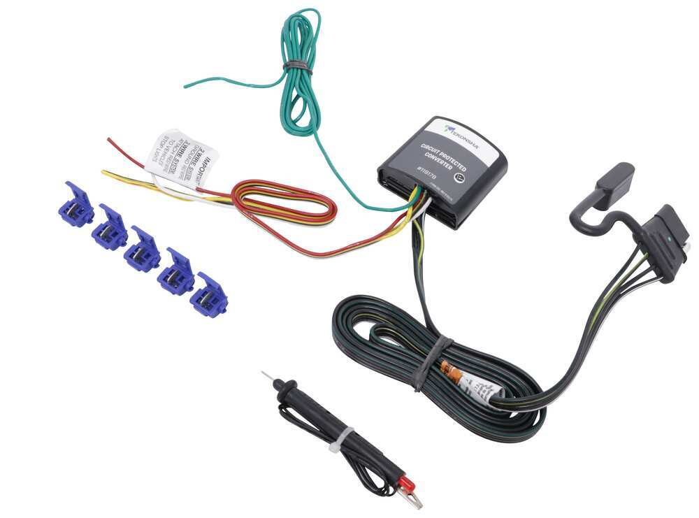Upgraded Circuit Protected Tail Light Converter Hardwire Kit w/ 4-Pole  Connector and Circuit Tester