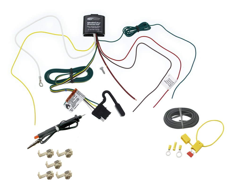 upgraded circuit protected modulite with 4 pole harness and hardwire kit includes tester