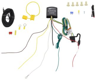 upgraded heavy duty modulite circuit protected vehicle wiring harness with install kit tekonsha