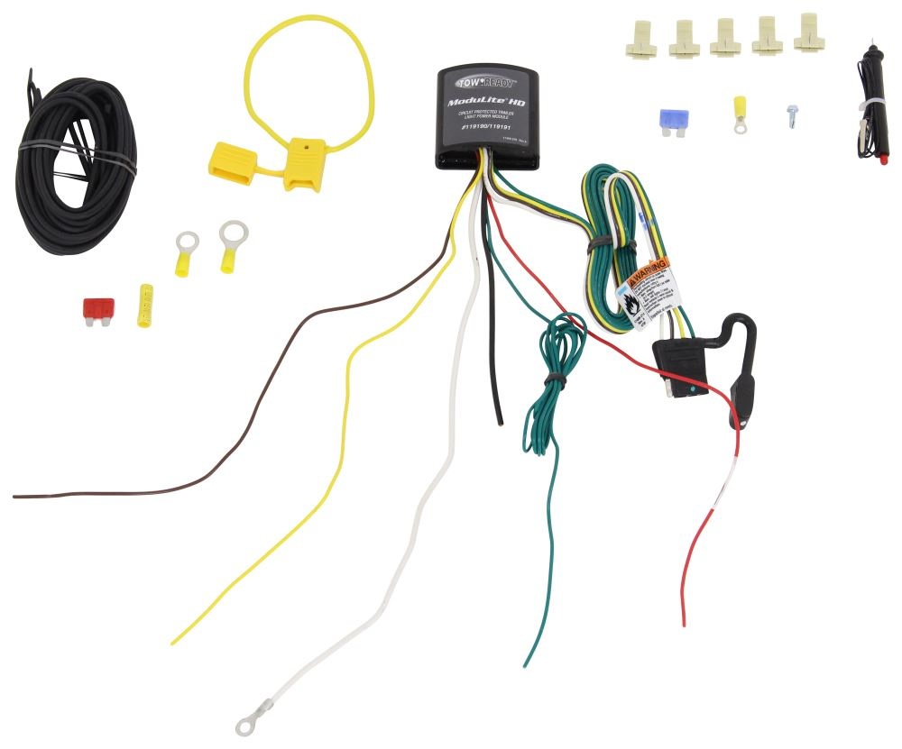 Upgraded Heavy Duty Modulite Circuit Protected Vehicle Wiring Tow Harness Self Center With Install Kit Tekonsha 119190kit