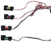 ZCI Circuit Protected Vehicle Wiring Harness w/ 4-Pole Flat Trailer Connector and Installation Kit Plug and Lead 119250KIT