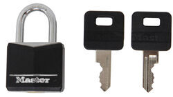 "Master Lock Covered, Solid Body Padlock - 3/16"" Diameter Shackle"