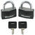 master lock padlocks  1/4 inch diameter covered solid body - shackle (2 pack)