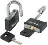 "Master Lock Covered Solid Body Padlocks - 1/4"" Shackle Diameter (2 Pack) Keyed Unique 141T"