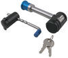 """Master Lock Hitch Receiver and Coupler Latch Lock Set - Swivel Design - 2"""" Hitches 2-3/4 Inch Span 1481DAT"""