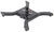 curt gooseneck for fifth wheel rails fixed ball - centered 16085
