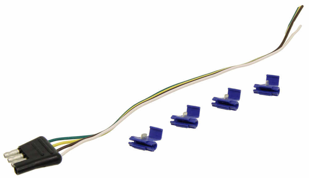 Long Trailer End Light Wiring Harness Bonded Flat 4 Way Pole Pin Connector 4 Ft