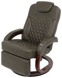"Thomas Payne RV XL Euro Recliner Chair w/ Footrest - 24"" Seat Width - Brookwood Chestnut"
