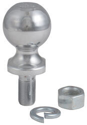 "2"" Hitch Ball - 3/4"" Diameter x 1-9/16"" Long Shank - Chrome - 3,500 lbs"