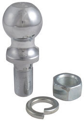 "1-7/8"" Hitch Ball - 1"" Diameter x 2-1/8"" Long Shank - Chrome - 2,000 lbs"