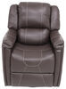 Thomas Payne Swivel Glider RV Recliner w/ Heated Seat, Footrest - Majestic Chocolate Brown 195-000027