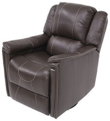Thomas Payne RV Swivel Glider Recliner with Heat - Majestic Chocolate