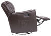 Thomas Payne Swivel Glider RV Recliner w/ Heated Seat, Footrest - Jaleco Chocolate 41 Inch Tall 195-000028