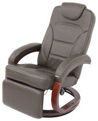 "Thomas Payne RV Euro Recliner Chair w/ Footrest - 20"" Seat Width - Brookwood Chestnut"