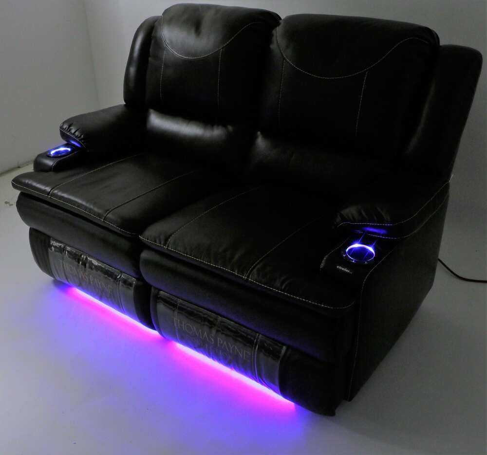 Thomas Payne Momentum Rv Dual Reclining Sofa W Heat Massage Led Kawasaki Vulcan 750 Wiring Diagram Lights Jaleco Chocolate Couches And Chairs 195 000055 056