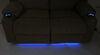 Thomas Payne Seismic Dual Power Reclining RV Loveseat w/ Heat, Massage, LEDs - Cobble Creek Tan 195-000098-099