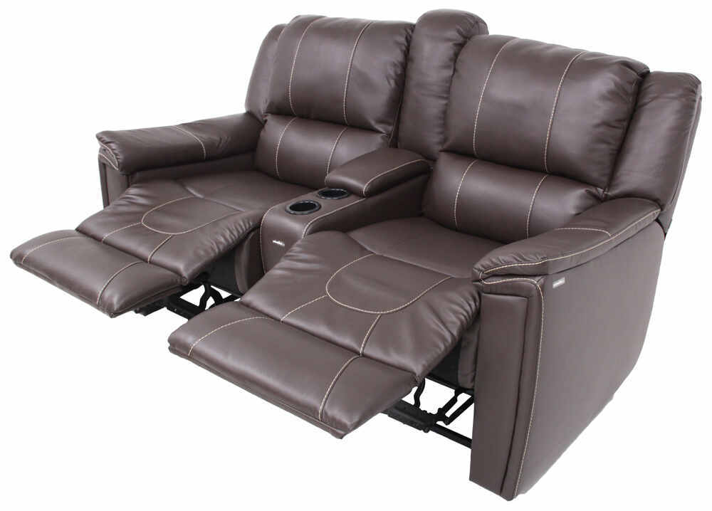 Thomas payne rv dual reclining sofa w center console for Rv furniture