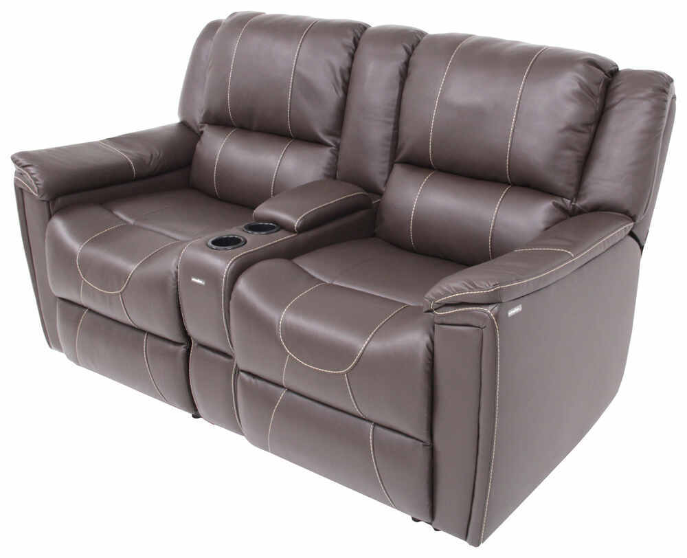 "Thomas Payne Heritage Dual Reclining RV Loveseat w/ Console - 66"" Wide - Majestic Chocolate Wall Clearance Required 195-018-019-020"