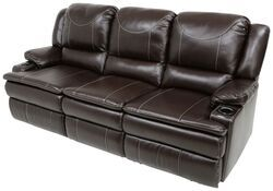 Thomas Payne Momentum RV Triple Reclining Sofa w/ Heat, Massage, LED Lights - Jaleco Chocolate