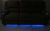 Thomas Payne Seismic Triple Power Reclining RV Couch w/ Heat, Massage, LEDs, USB - Cobble Creek 84 Inch Wide 195-100-099-098