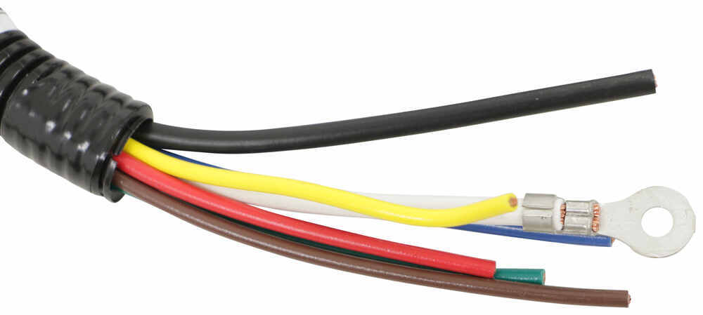 tow ready 5th wheel/gooseneck pigtail wiring harness with 7-way, rv-