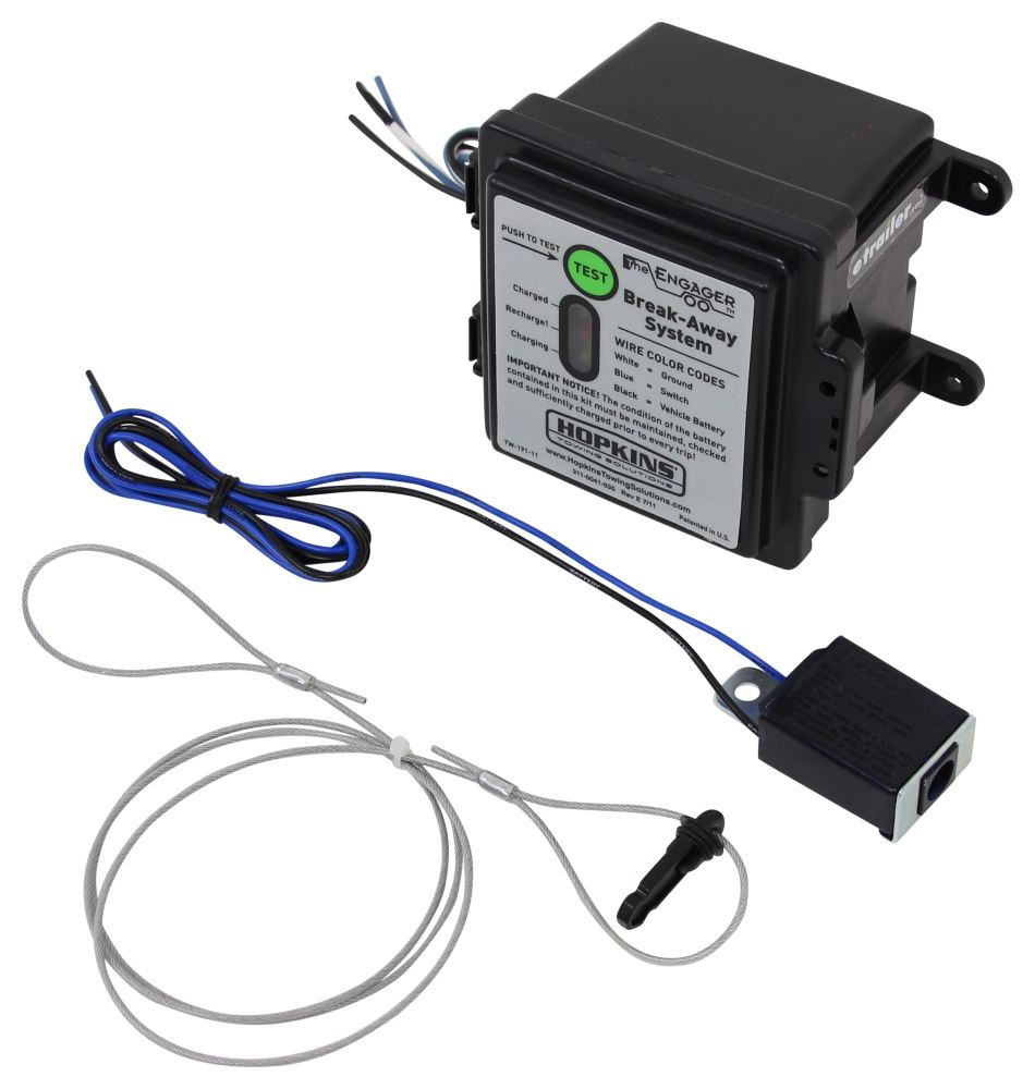 Compare Trailer Breakaway Vs Hopkins Engager Wiring Battery Charge Push To Test Kit W Built In Charger