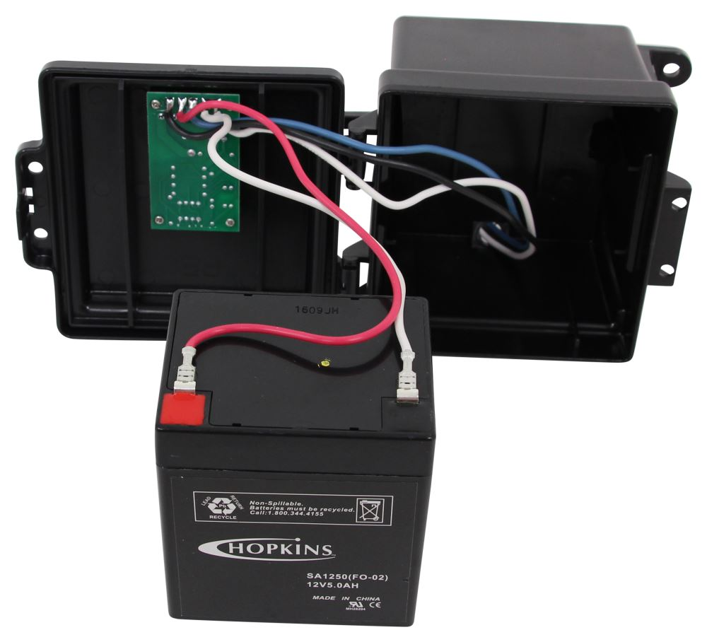 Hopkins Engager Push-to-test Trailer Breakaway Kit W   Built-in Charger - Side Load