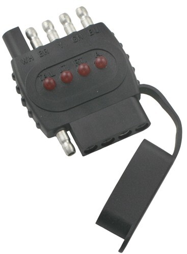 Inline Circuit Tester : Way flat trailer connector in line circuit tester tow