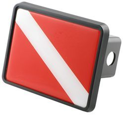 "Diver's Flag Trailer Hitch Receiver Cover for 2"" Trailer Hitches"