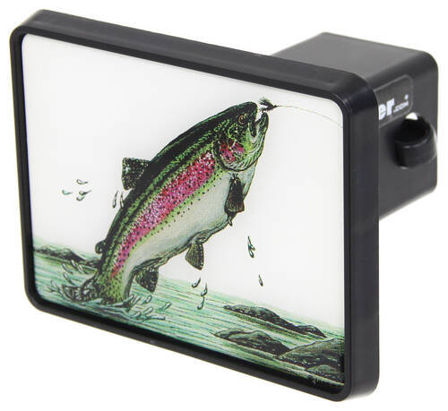 Compare trout trailer hitch vs hitchmate rainbow for Fish hitch cover
