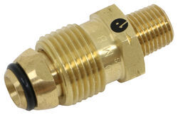 "MB Sturgis Full Flow Propane Tank Connector Fitting - Soft Nose POL x 1/4"" MPT"