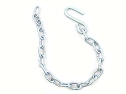 "27"" Long Safety Chain with 7/16"" Hook, 5,000 lbs."